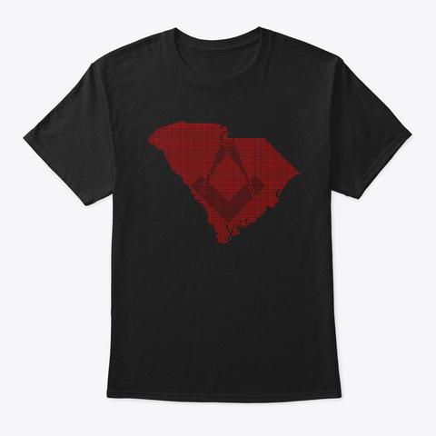 Hearts For South Carolina Black T-Shirt Front
