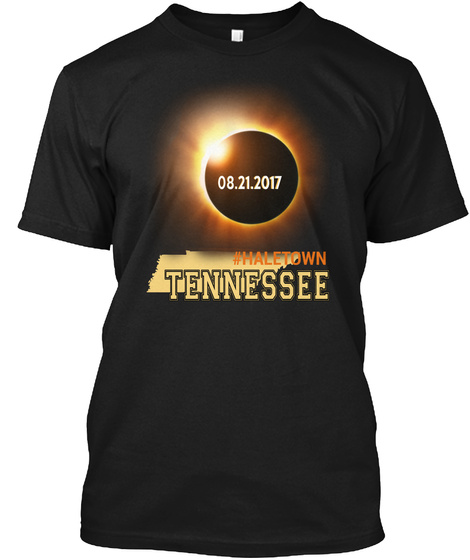 Eclipse Haletown Tn. Customizable City Black T-Shirt Front