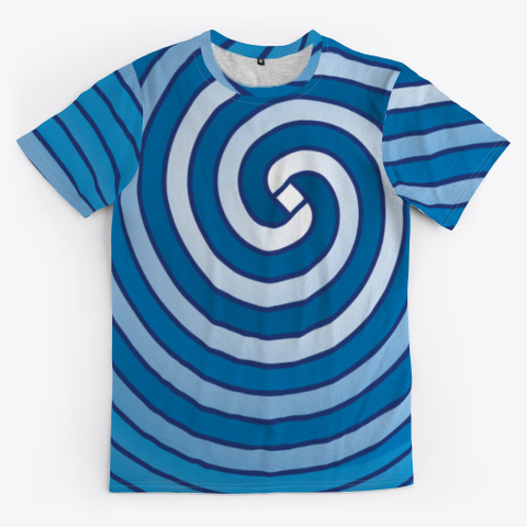 Archimedean Spiral Series   Light Blues Standard T-Shirt Front