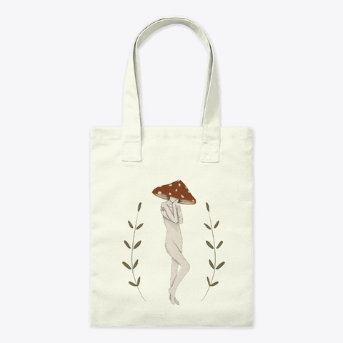 Mushroom Woman Floral Plant Aesthetic Natural T-Shirt Front