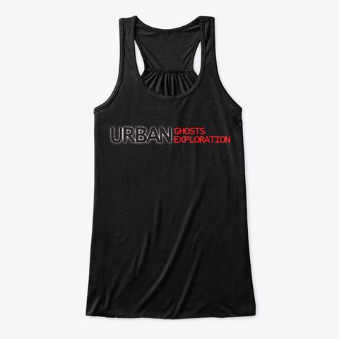 Ugue Woman's Flowy Tank Black Camiseta Front