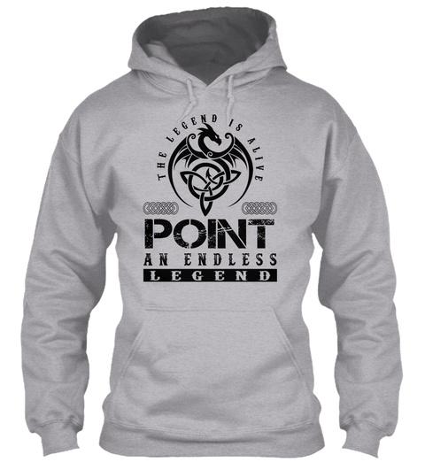 Point   Legends Alive Sport Grey T-Shirt Front