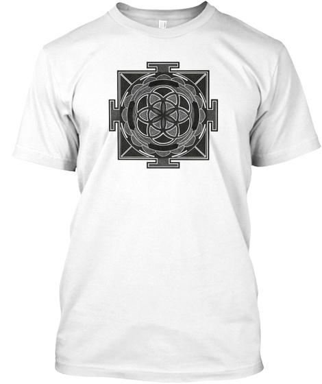 Seed Of Life Mandala T Shirts And Tanks White T-Shirt Front