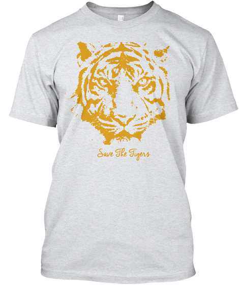 Save The Tigers Ash T-Shirt Front