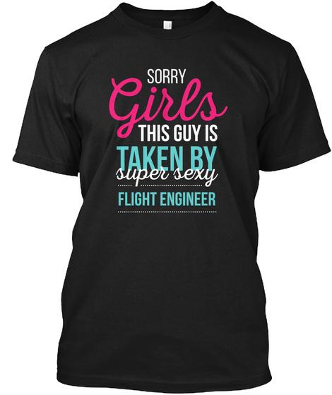 Flight Engineer T Shirt Black T-Shirt Front