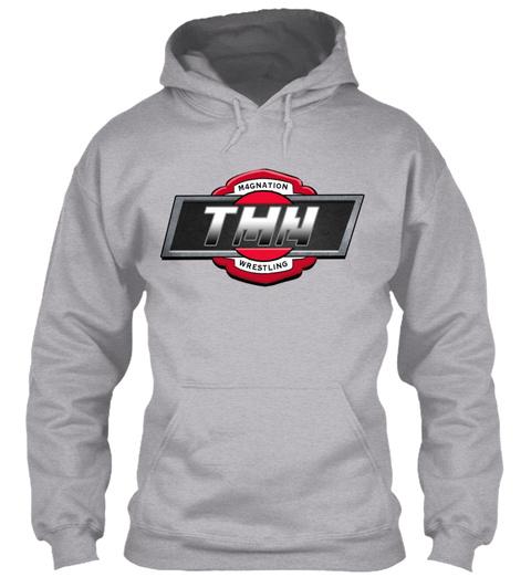 Tmn Wrestling, New Logo Hoodie Sport Grey Sweatshirt Front