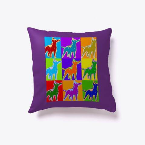 Pop Art Dog Home Purple T-Shirt Front