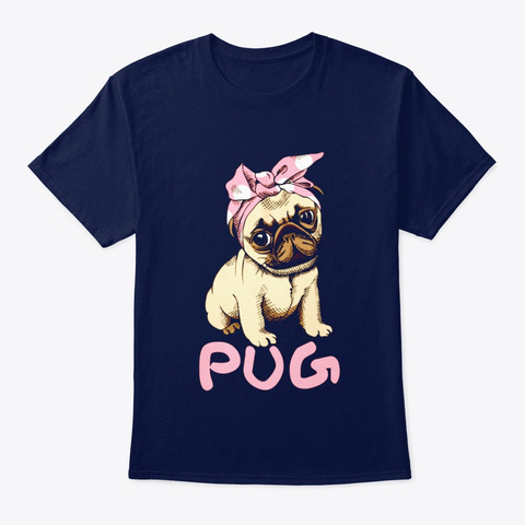 Dog Shirt Navy T-Shirt Front