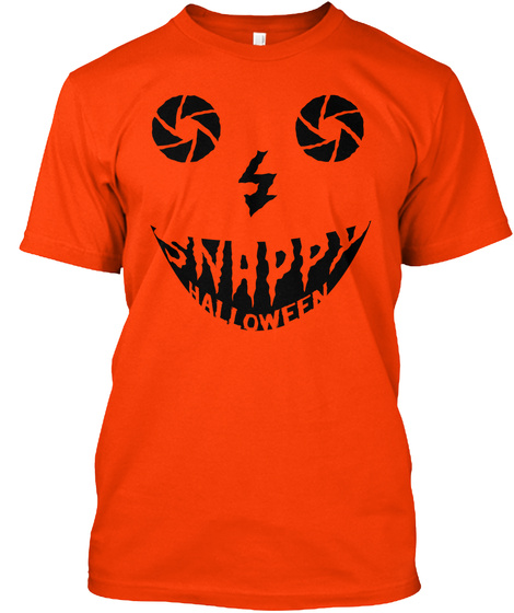 Halloween Orange T-Shirt Front
