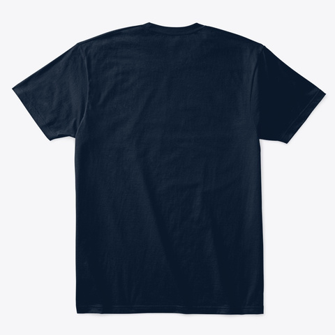 Be The Light Be The Change New Navy T-Shirt Back