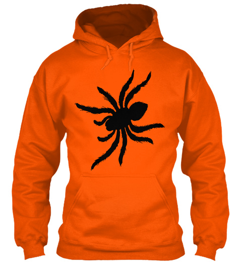 Hoodie Spider Safety Orange T-Shirt Front
