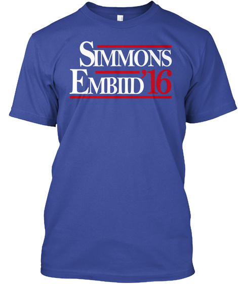 Simmons Embiid 16 Deep Royal T-Shirt Front