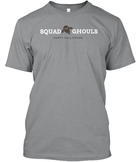 Happy Halloween, Squad Ghouls  Athletic Heather T-Shirt Front