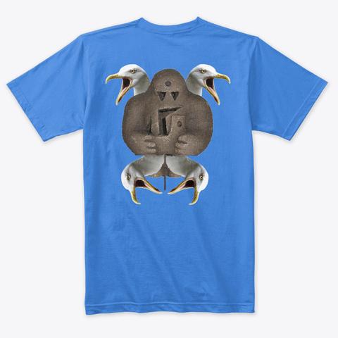 Golem Iceberg Model T Shirts Vintage Royal T-Shirt Back