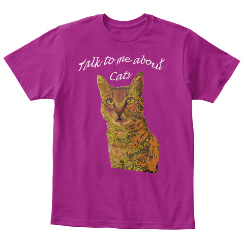 I Love Cute Cats Heliconia T-Shirt Front