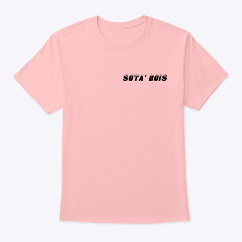 """""""The Bois"""" Collection Pale Pink T-Shirt Front"""