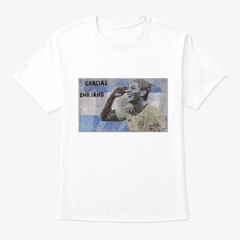 Emiliano Soccer White T-Shirt Front