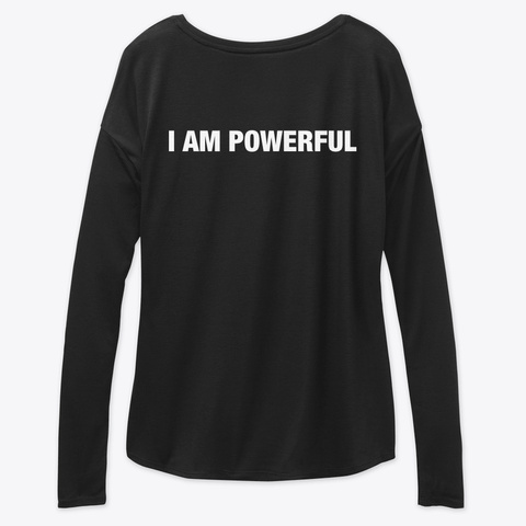 #52 Devotionals I Am Powerful Black T-Shirt Back