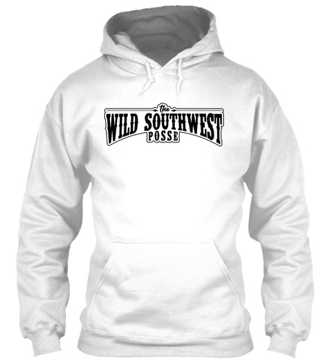 The Wild Southwest Posse Arctic White T-Shirt Front