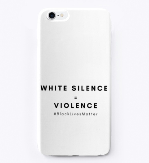 White Silence = Violence Standard T-Shirt Front