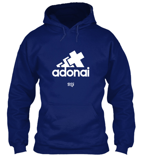 Adonai Bls Oxford Navy T-Shirt Front