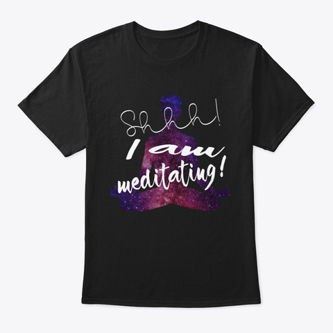 Meditation And Yoga Black T-Shirt Front