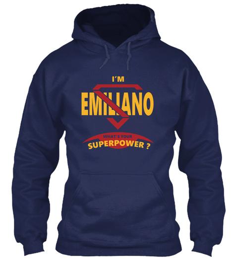 Emiliano Navy T-Shirt Front