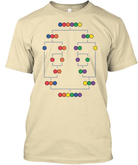 Merge Sort Rainbow Cream T-Shirt Front