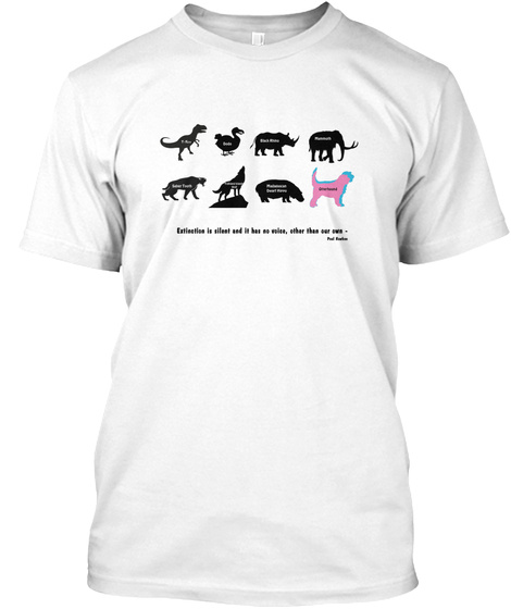 Otterhound Club Reproduction Bank White T-Shirt Front