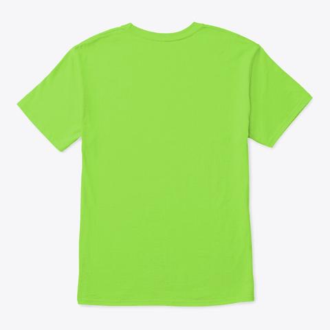 Shake It Wet Border Collie Art Lime T-Shirt Back
