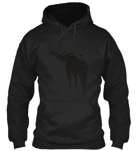 The Giraffe Ink Art Black T-Shirt Front