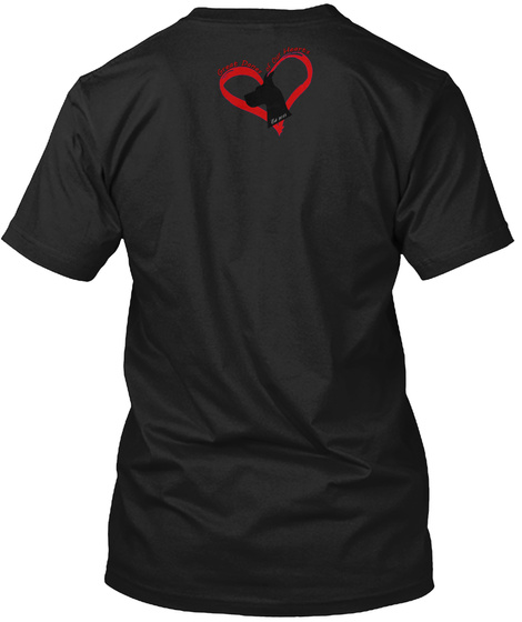Great Danes Of Our Hearts Black T-Shirt Back