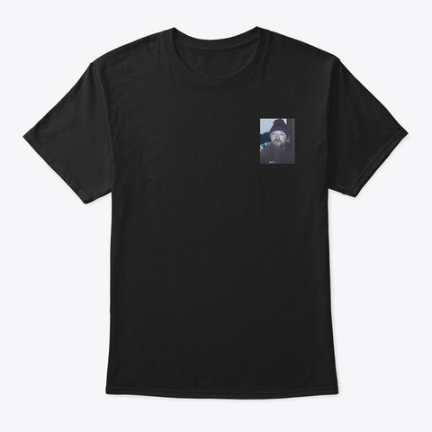 Man Guy Black T-Shirt Front