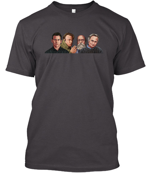 The 4 Horsemen Of The Non Apocalypse  Heathered Charcoal  T-Shirt Front
