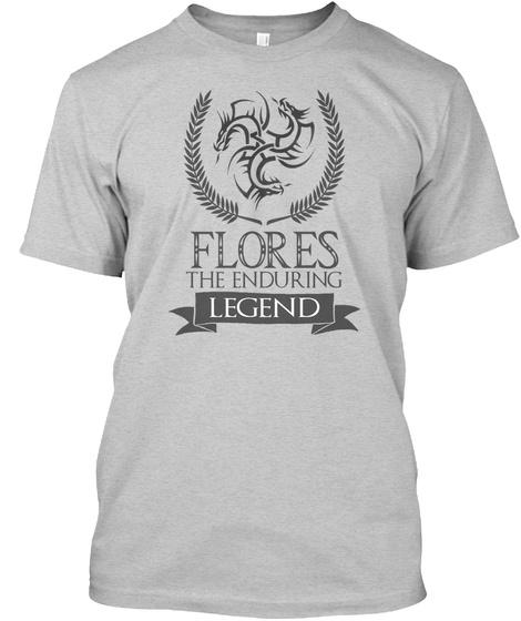Flores The Enduring Legend Light Steel T-Shirt Front
