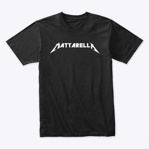 Mattarella Rocks Black T-Shirt Front