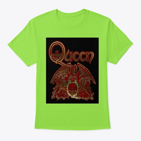 Queen 11 Official Merchandise Lime T-Shirt Front