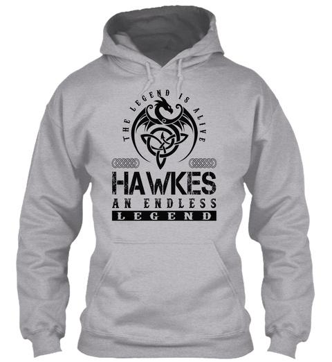 Hawkes   Legends Alive Sport Grey T-Shirt Front