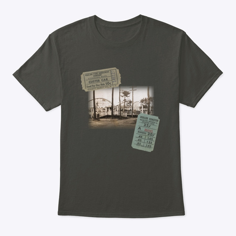 Vintage Whalom Park Photo And Tickets Smoke Gray T-Shirt Front