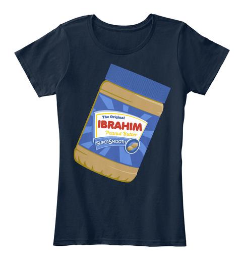 The Original Ibrahim Peanut Butter New Navy T-Shirt Front