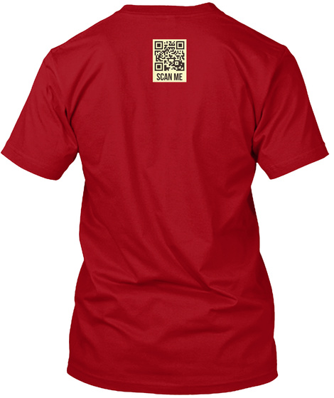 Oh Simultaneously! Deep Red T-Shirt Back