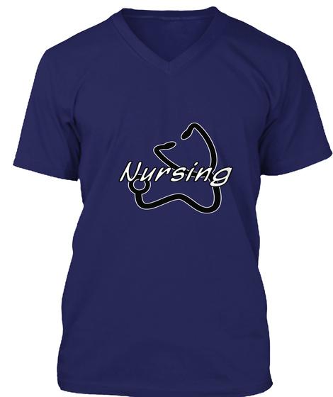 Nursing Navy T-Shirt Front