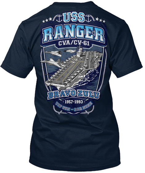 USS RANGER - CVACV-61 TOP GUN BAR NONE Unisex Tshirt
