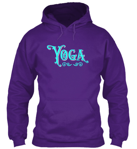 Yoga Purple T-Shirt Front
