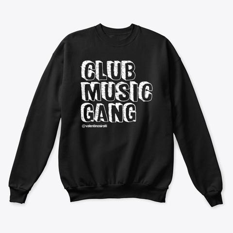 Club Music Gang Black T-Shirt Front