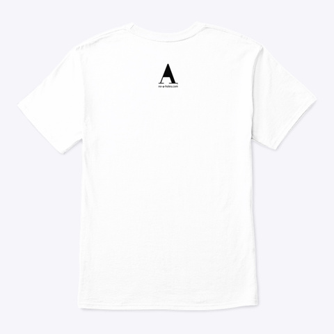 No A Holes™ Icon On Light Merch White T-Shirt Back
