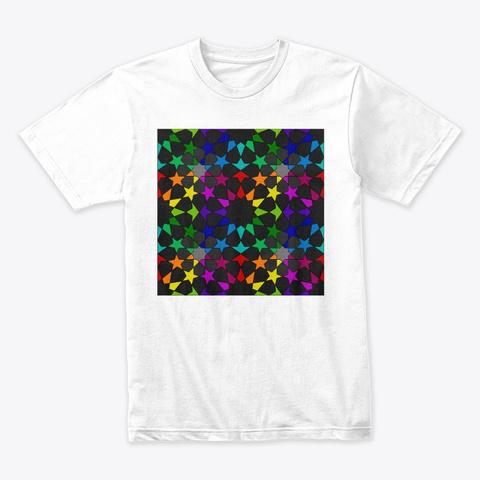 8 12 Tessellation Series V4 White T-Shirt Front