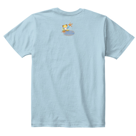 Never Sleep Kids Ellesson Light Blue T-Shirt Back