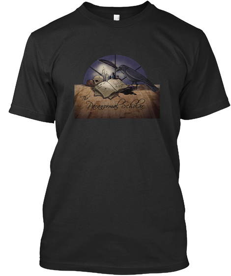 The Paranormal Scholar Black T-Shirt Front
