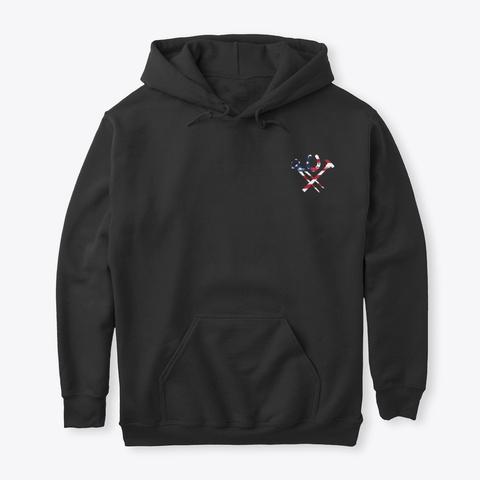 Us Flag Farrier Shirt Black T-Shirt Front